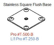 500-B Stainless Square Pro Base